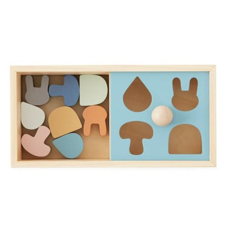 OYOY Puzzel box multicolour hout 24x12x12cm
