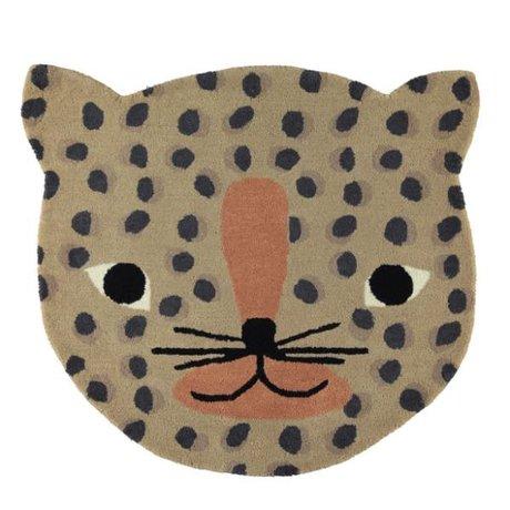 OYOY Teppich Leopard karamellbraune Baumwolle 84x94cm