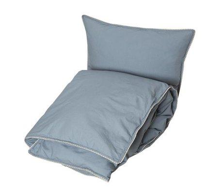 OYOY Housse de couette Haikan bleu bébé gris 40x45-70x100cm