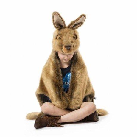 Wild and Soft Déguisement Hare textile marron 92x116x35cm