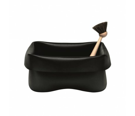 Normann Copenhagen Basket washing Washing-up Bowl black rubber 28x28x14cm