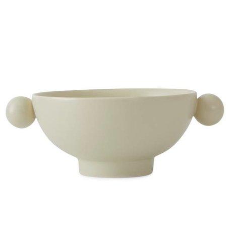 OYOY Plat Inka cassé en céramique blanche 18x14,5x7cm