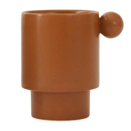OYOY Mug Inka céramique caramel brun 7,5x10x10,5cm
