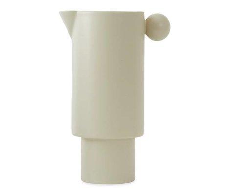 OYOY Kann inka gebrochene weiße Keramik 14x22cm