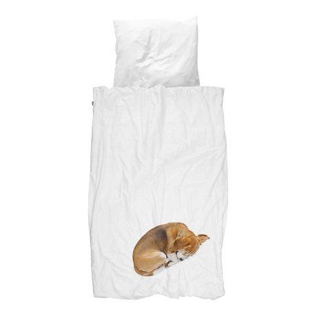 Snurk Beddengoed Duvet Hund bob in 3 Größen weiß