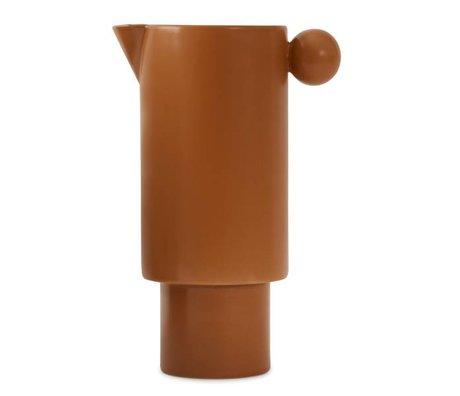OYOY Kan Inka caramel bruin keramiek 14x22cm