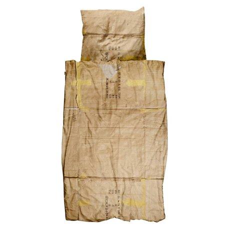 Snurk Beddengoed Housse de couette le clochard 3 tailles, beige