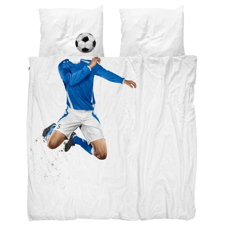 Snurk Beddengoed Soccer blue duvet cover 200x200 / 220cm incl pillowcase 60x70cm