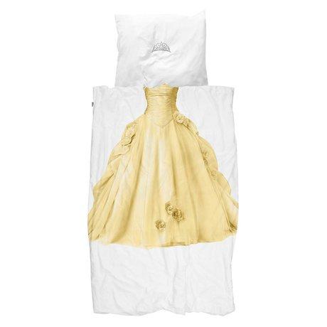 Snurk Beddengoed dekbedovertrek Princess yellow  katoen 140x200/220cm
