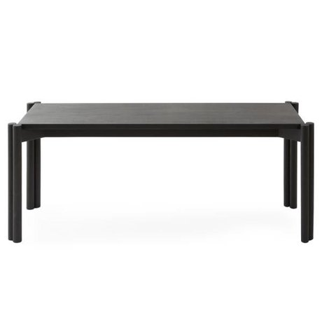 OYOY Bankje Pieni zwart hout 106x43x40cm