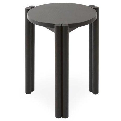 OYOY Stoel Pieni zwart hout 35x35x43cm