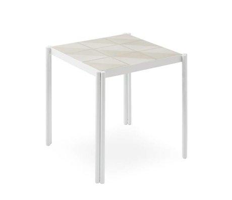 OYOY tafel Pieni wit roze 35x38x38cm