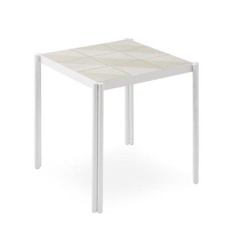 OYOY table Pieni white pink 35x38x38cm