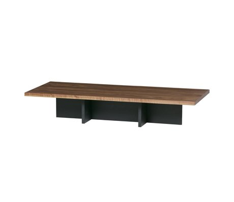 WOOOD Couchtisch James Black Walnut 137x60x31cm