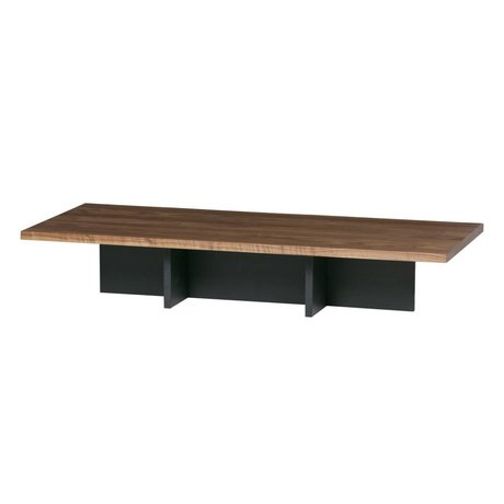 WOOOD Salontafel James zwart noten hout 137x60x31cm
