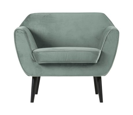 LEF collections Fauteuil Rocco vert menthe velours polyester 92x81x75cm