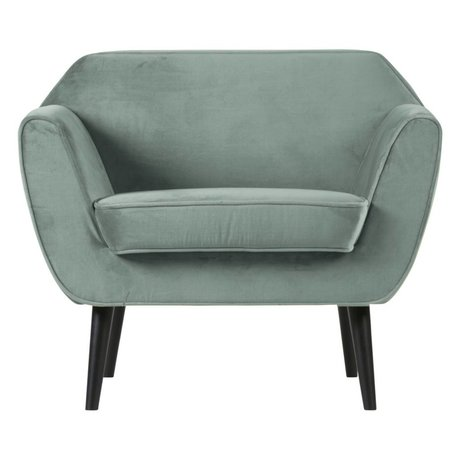 LEF collections Armchair Rocco mint green velvet polyester 92x81x75cm