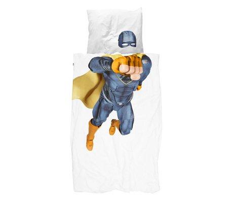 Snurk Beddengoed dekbedovertrek Superhero blue katoen 140x200/220cm