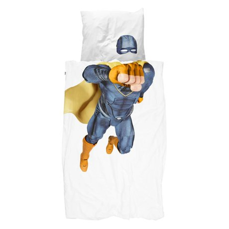 Snurk Beddengoed Housse de couette Superhero bleu 140x200 / 220cm