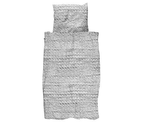 Snurk Beddengoed Duvet Twirre grauen Flanell drei Größen