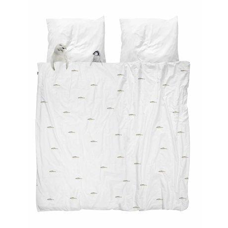 Snurk Beddengoed Housse de couette Artic friends flanelle blanche 260x200 / 220cm + 2 / 60x70cm