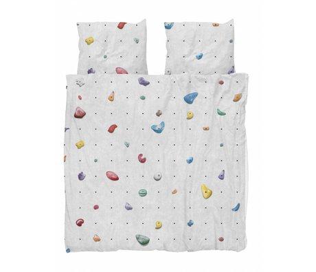 Snurk Beddengoed Bettbezug Kletterwand mehrfarbige Baumwolle 260x200 / 220cm + 2 / 60x70cm