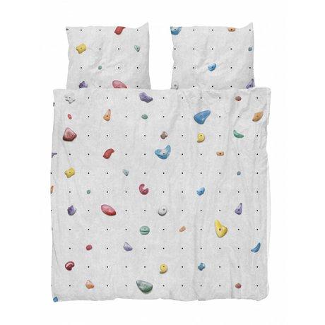 Snurk Beddengoed Duvet cover Climbing Wall multicolour cotton 260x200 / 220cm + 2 / 60x70cm