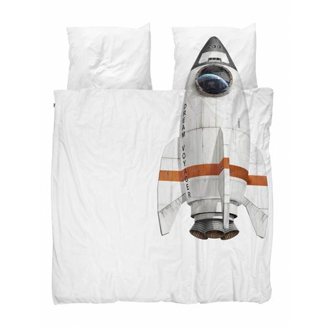 Snurk Beddengoed Rocket couette 200x200 / 220 comprenant deux taies d'oreiller 60x70cm