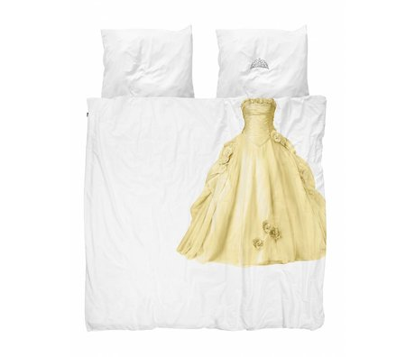 Snurk Beddengoed dekbedovertrek Princess yellow  katoen 200x200/220cm