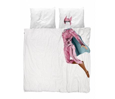 Snurk Beddengoed dekbedovertrek Superhero pink katoen 240x200/220cm