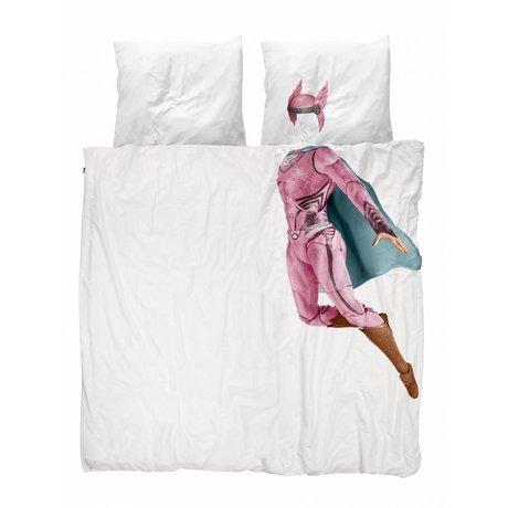 Snurk Beddengoed Housse de couette Superhero rose 240x200 / 220cm