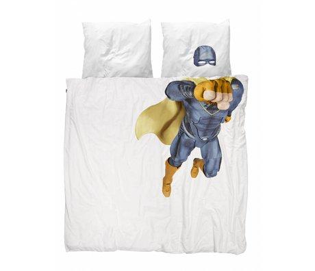 Snurk Beddengoed Housse de couette Superhero bleu 200x200 / 220cm