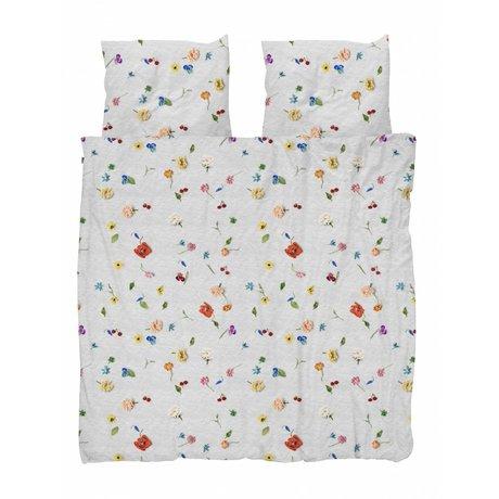 Snurk Beddengoed dekbedovertrek Knitted flower multicolour katoen 260x200/220cm