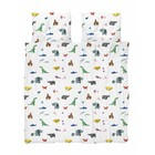 Snurk Beddengoed Dekbedovertrek Paper Zoo multicolour katoen 200x200/220cm + 2/60x70cm