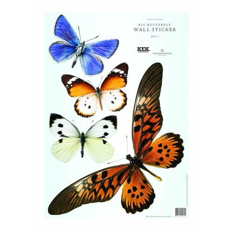 KEK Amsterdam Butterfly Wall Sticker Set 1 (4 butterflies)
