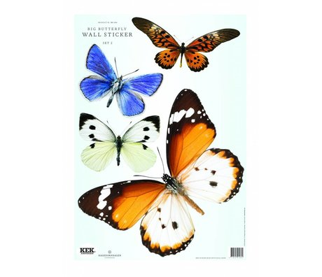 KEK Amsterdam Butterfly Wall Sticker Set 2 (4 butterflies)