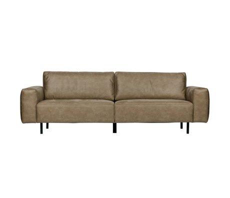 WOOOD Sofa Rebound 3-Sitzer Cappuccino braun PU Leder 252x98x81cm