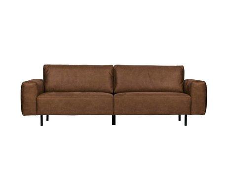 WOOOD Sofa Rebound 3-seat cognac brown pu leather 252x98x81cm