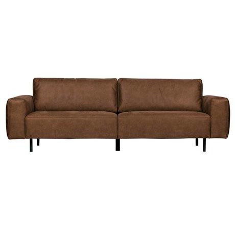 WOOOD Sofa Rebound 3-Sitzer cognacbraunes PU-Leder 252x98x81cm