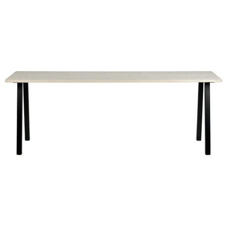 LEF collections Dining table Triumph brown black untreated wood metal 210x77x74,5cm