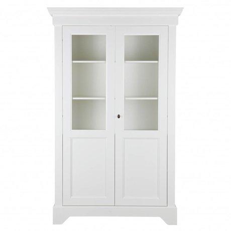LEF collections Vitrinekast Anna wit grenen 118x47x191cm