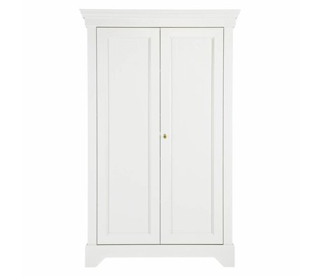 LEF collections Armoire Brocante Isabel pin blanc 118x47x191cm