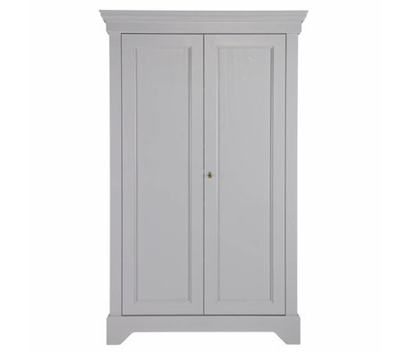 LEF collections Armoire Brocante Isabel béton gris pin 118x47x191cm