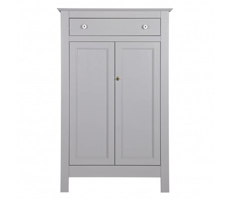 LEF collections Brocante cupboard Eva concrete gray pine 93x40x150cm