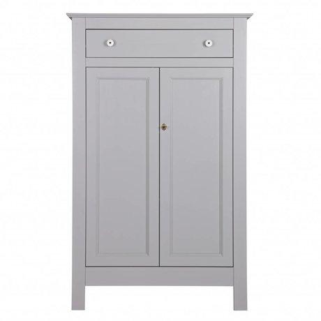 LEF collections Armoire Brocante Eva béton gris pin 93x40x150cm