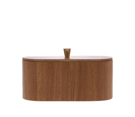 HK-living Opbergbakje Willow bruin hout 23x11x10cm