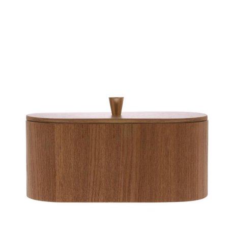 HK-living Aufbewahrungsbox Willow braun Holz 23x11x10cm