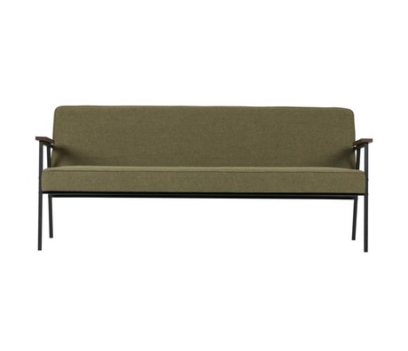 WOOOD Bench Elisabeth sofa olive green textile 185x80x78cm
