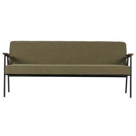 WOOOD Banquette Elisabeth canapé vert olive textile 185x80x78cm