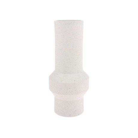 HK-living Vase Speckled Straight cream white ceramic M Ø13x32cm